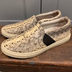Lanvin snake skin slide-on sneakers 37